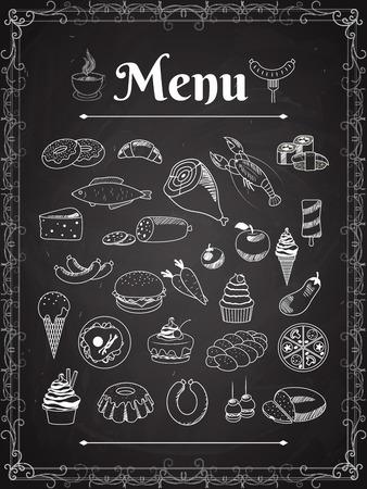 food menu Vettoriali