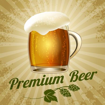 jarra de cerveza: cartel de la cerveza