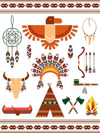 Aztec decorative elements Illustration