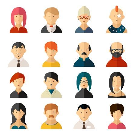 diversidad: Conjunto de imagen de usuario de la interfaz de usuario de vectores iconos Vectores