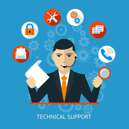 Technical support Icon 向量圖像