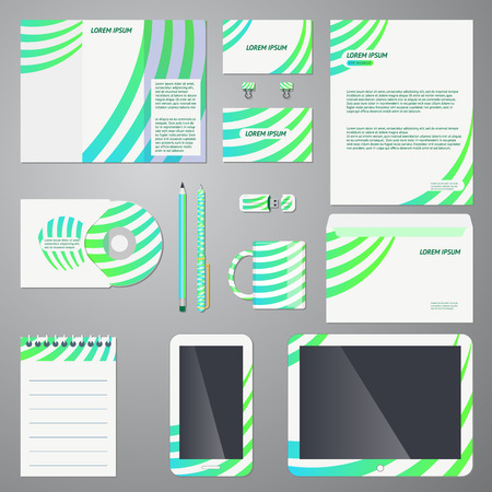 office product: Brand identity com pant style template Illustration