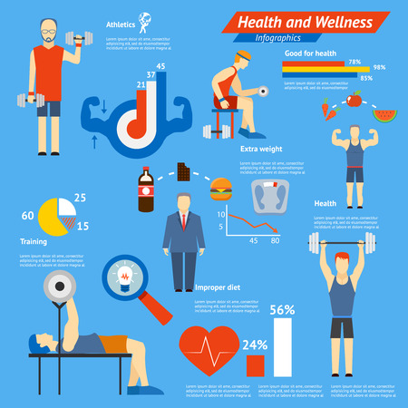 cardiovascular exercising: Sport and fitness infographics