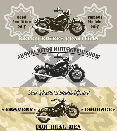 olden day: motorcycle banners