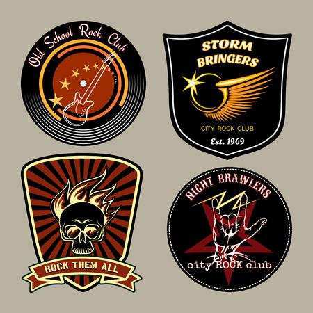 Rock badges Ilustrace