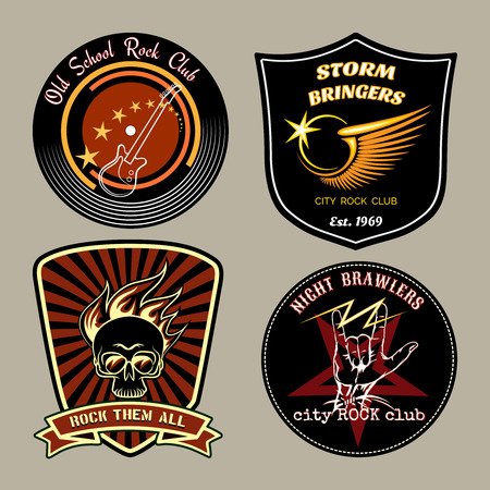 Rock badges Illustration