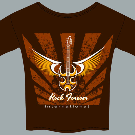Rock fan tee shirt Vector