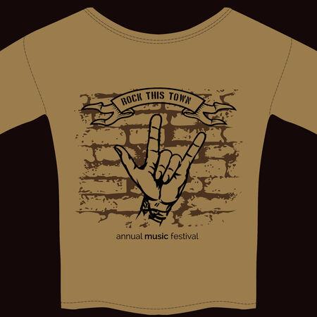 tee shirt template: music tee shirt template Illustration