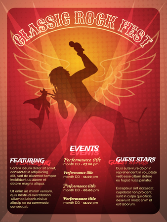 the vocalist: Classic Rock Fest poster design