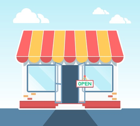store window: Vector Store Illustration