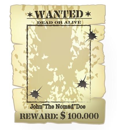 西部の指名手配のポスター