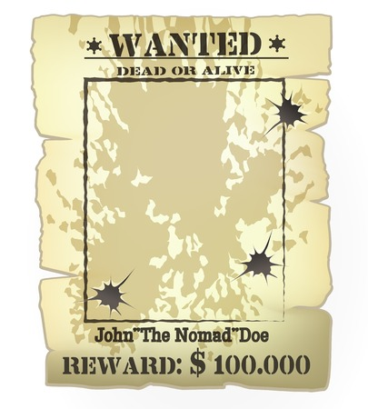 western wanted poster Illustration