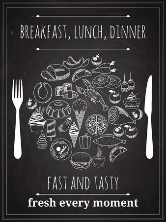 Vector Vintage Food Poster