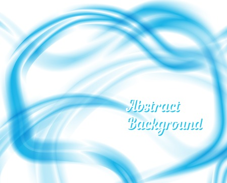 liquidity: Blue and White Waves Abstract Design Illustration