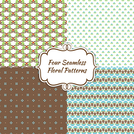 Endless Modern Seamless Floral Background for Web Page  Wall Papers  Pattern Fills and Cards Vector