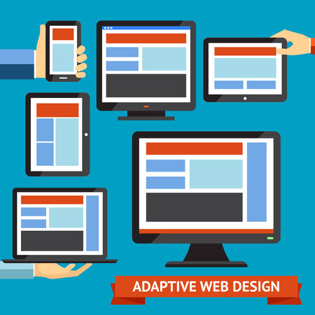Modern responsive and adaptive web design and mobile apps Vector