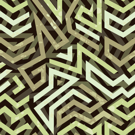 pointy: Graffiti grunge geometric seamless pattern with bold striking design with angular shapes and lines for wrapping paper  wallpaper and fabric