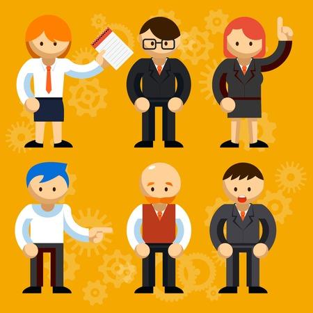 Different Vector Businessmen Characters Vector