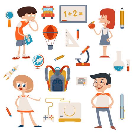 glassware: Cartoon School Retro Children Set