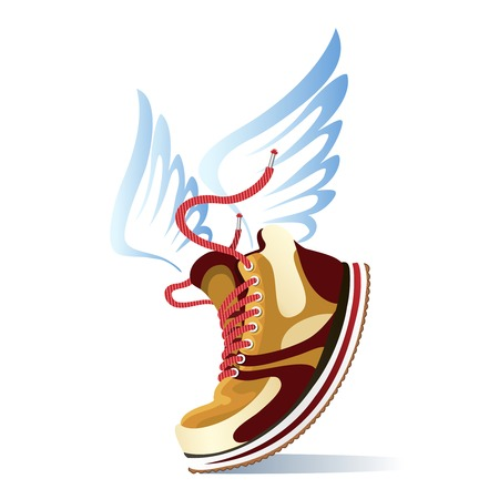 winged: Winged sports shoe icon