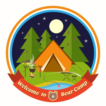 campsite: Welcome To Bear Camp badge