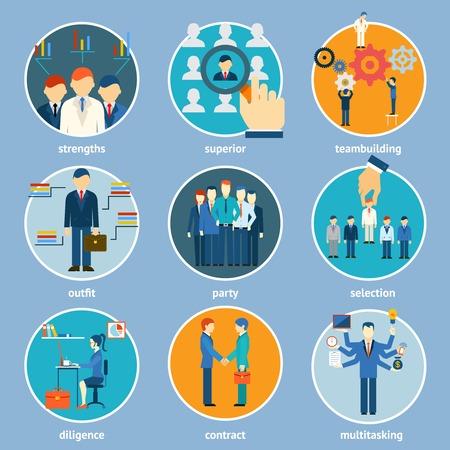 Variety Human Resource Icons Vector