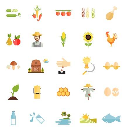 variety: Variety Flat Style Farm Organic Food Icon