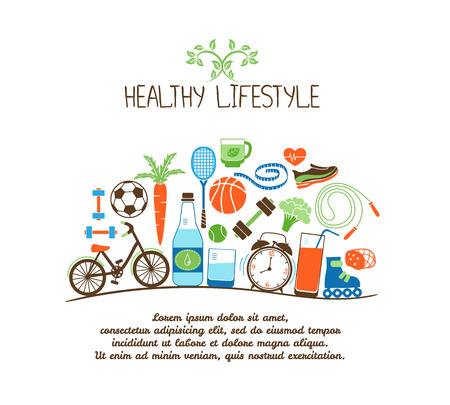 healthy lifestyles Stock Vector - 31494105