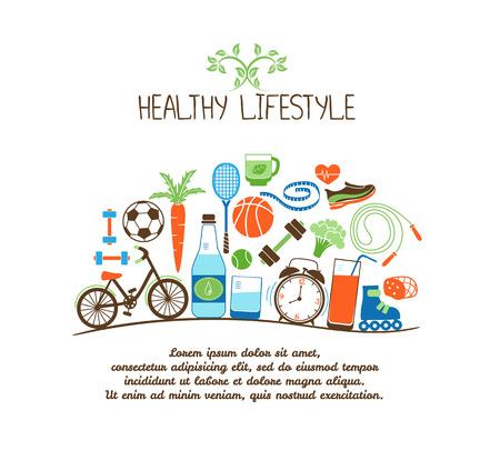 zdrowy styl życia Ilustracje wektorowe