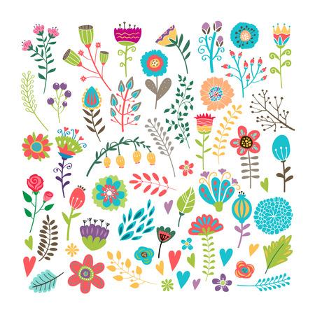 手描き花要素