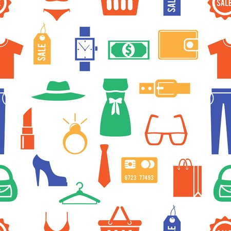 Colorful Clothing and Accessories Themed Graphics Vector