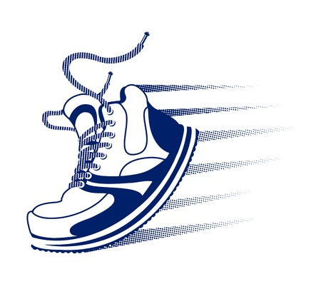 running shoe: Vector running icon