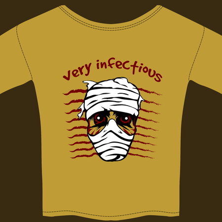 horrifying: Very Infectious t-shirt design template Illustration