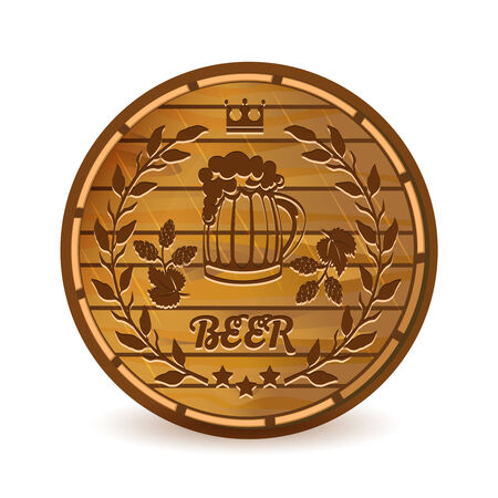 alchoholic drink: Beer barrel Illustration