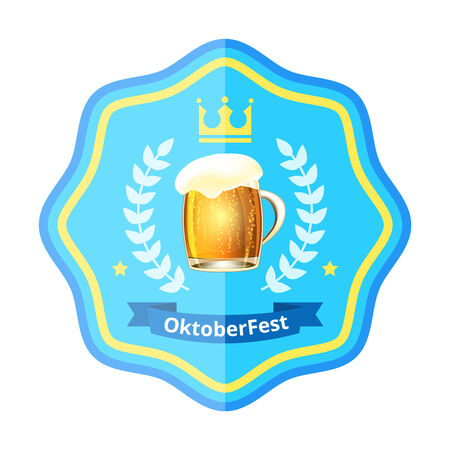 alchoholic drink: Oktoberfest beer badge