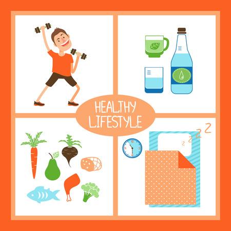 balanced: Healthy Lifestyle illustration