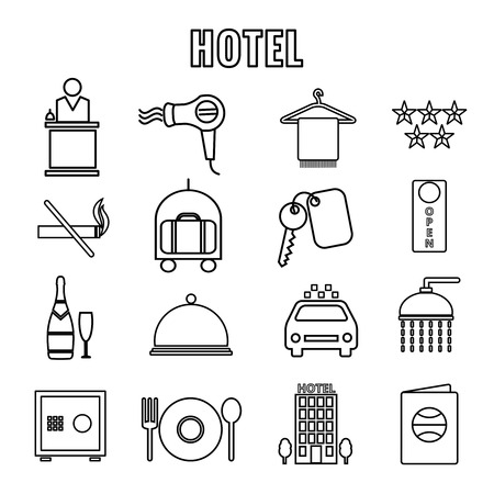 amenities: Hotel Themed Line Graphics