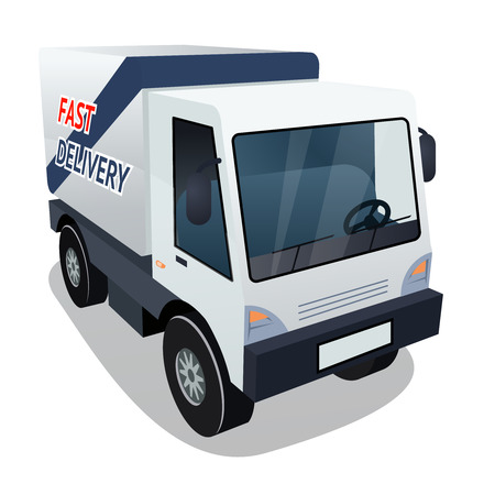 haulage: Delivery Cargo Truck Graphic on White Background