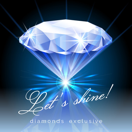 Graphic of Shining Diamond with Text