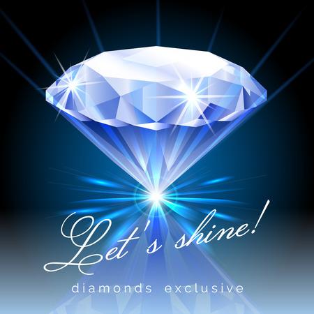 diamond: Graphic of Shining Diamond with Text