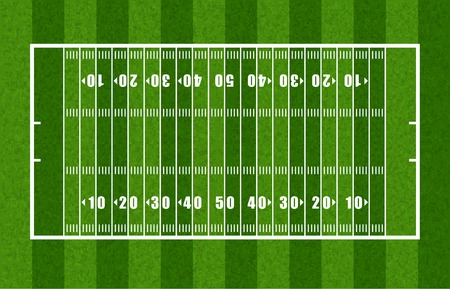Overview of American Football Field Stock Illustratie