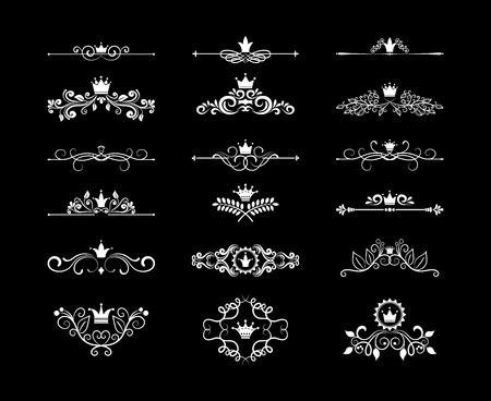 corona navidad: Página de elementos de diseño floral