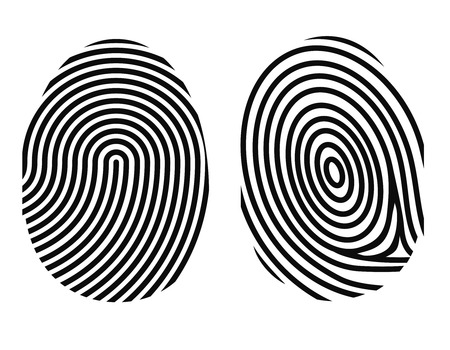fingerprint on white