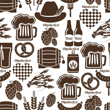 Oktoberfest seamless background pattern Vector