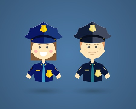 police hat: Professions - Police officers Illustration