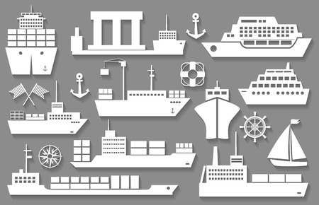 inflate boat: boat and ship icons