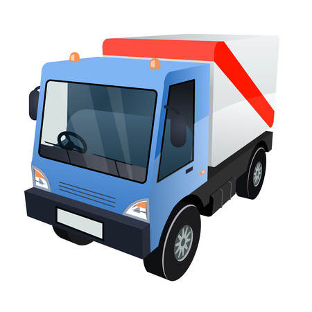 haulage: Vector Graphic of Cargo Truck on White Background