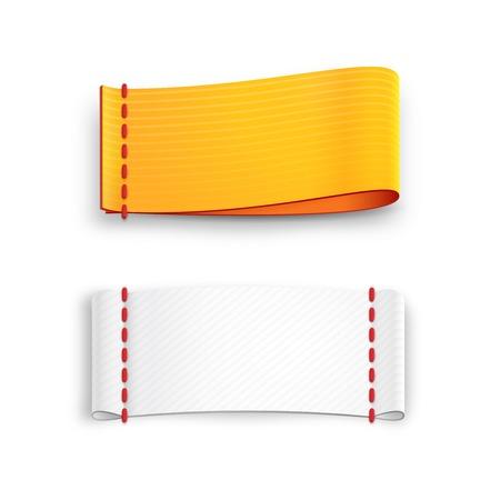 fabric labels Vector