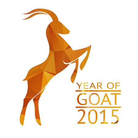 Goat New Year 2015 Sign Vector