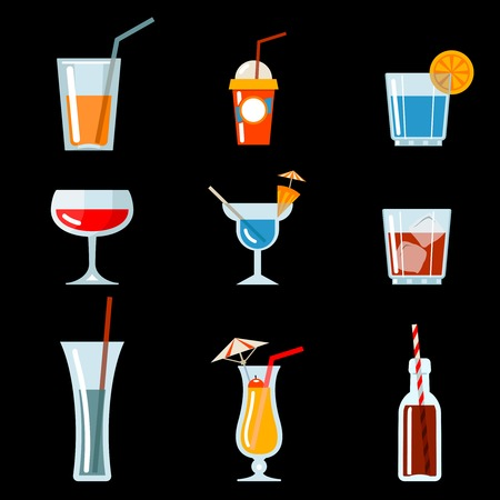vector cocktail party icons Vector
